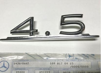Picture of Mercedes model sign 4.5 1098170415 new