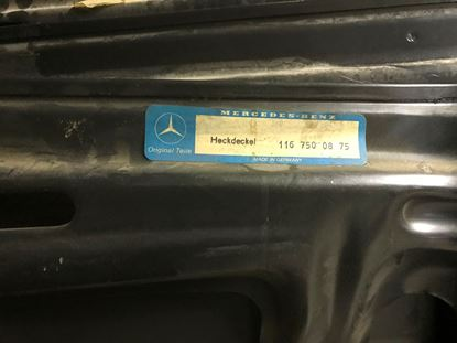 Picture of trunk lid, W116, 1167500875